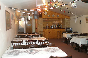 The brook house inn, castle cary, somerset, skittle alley and function room