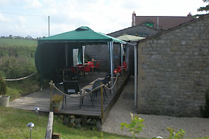 brook house inn touring and camping park somerset decking area